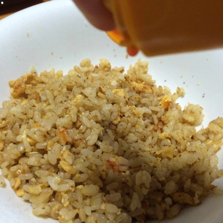 粉チーズ炒飯 試作4 ラー油いれ 10.JPG