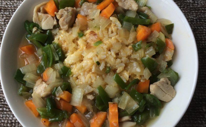 野菜たっぷり餡かけ炒飯|洋風白だし